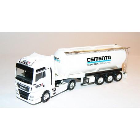 "AHM AH-658 MAN TGX XXL silo semitrailer, ""BDX - Cementa"""