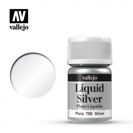 Vallejo 70790 Liquid Gold 790 'Silver' 35ml