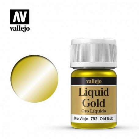Vallejo 70792 Liquid Gold 792 'Old Gold' 35ml