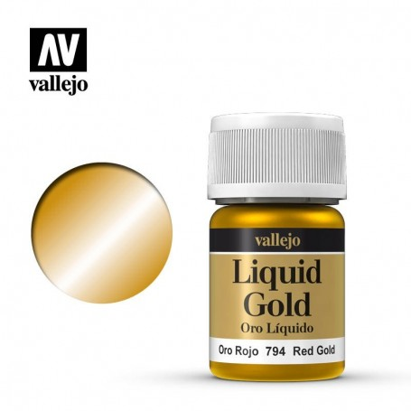 Vallejo 70794 Liquid Gold 794 'Red Gold' 35ml