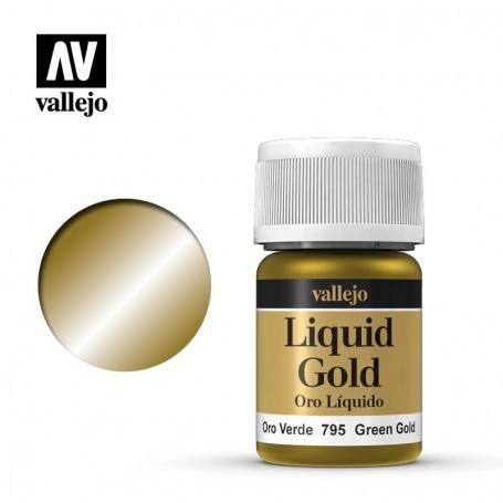 Vallejo 70795 Liquid Gold 795 'Green Gold' 35ml