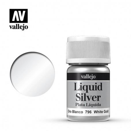 Vallejo 70796 Liquid Gold 796 'White Gold' 35ml