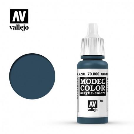 Vallejo 70800 Model Color 800 Gunmetal Blue (180) 17ml
