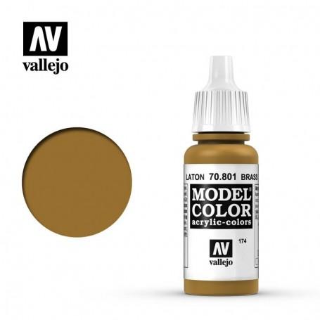 Vallejo 70801 Model Color 801 Brass (174) 17ml
