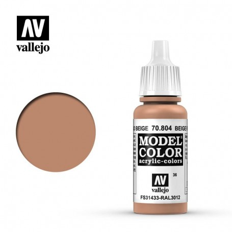 Vallejo 70804 Model Color 804 Beige Red (036) 17ml