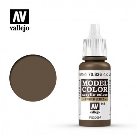 Vallejo 70826 Model Color 826 German Camouflage Medium Brown (145) 17ml