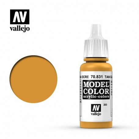 Vallejo 70831 Model Color 831 Tan Glaze (203) 17ml