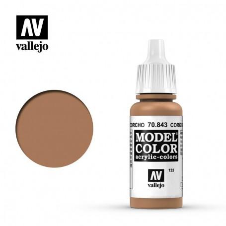 Vallejo 70843 Model Color 843 Cork Brown (133) 17ml