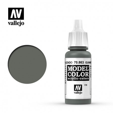 Vallejo 70863 Model Color 863 Gunmetal Grey (179) 17ml