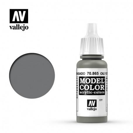 Vallejo 70865 Model Color 865 Oily Steel (177) 17ml