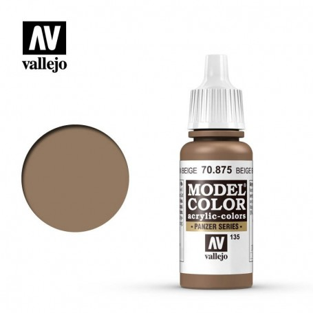 Vallejo 70875 Model Color 875 Beige Brown (135) 17ml