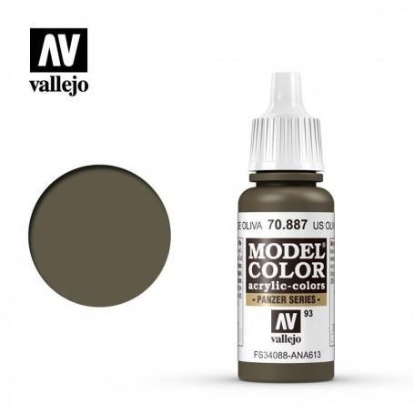 Vallejo 70887 Model Color 887 US Olive Drab (093) 17ml