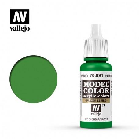 Vallejo 70891 Model Color 891 Intermediate Green (074) 17ml