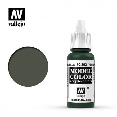 Vallejo 70892 Model Color 892 Yellow Olive (087) 17ml