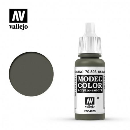 Vallejo 70893 Model Color 893 US Dark Green (095) 17ml