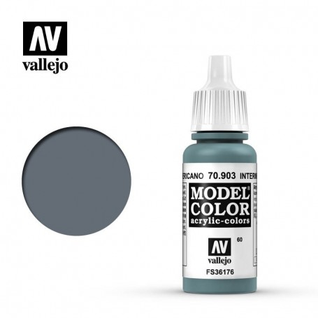 Vallejo 70903 Model Color 903 Intermediate Blue (060) 17ml