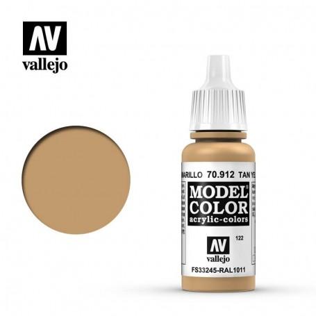 Vallejo 70912 Model Color 912 Tan Yellow (122) 17ml