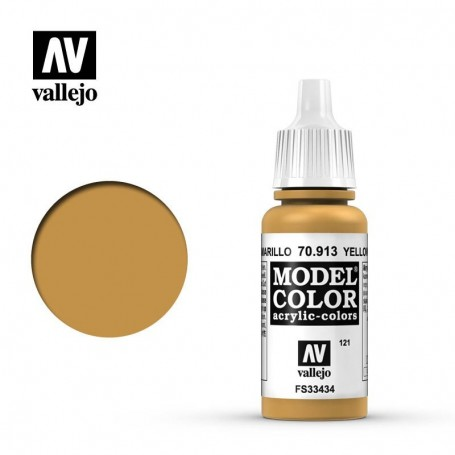 Vallejo 70913 Model Color 913 Yellow Ochre (121) 17ml