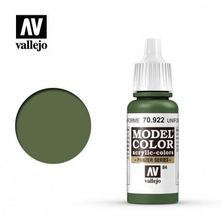 Vallejo 70922 Model Color 922 Uniform Green (084) 17ml