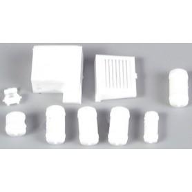 AMW 90055 Små tryckluftstankar, vita, 12 st