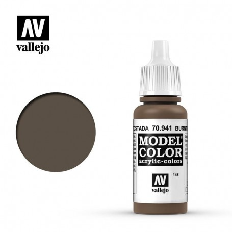 Vallejo 70941 Model Color 941 Burnt Umber (148) 17ml