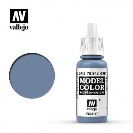 Vallejo 70943 Model Color 943 Grey Blue (061) 17ml