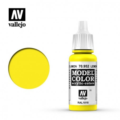Vallejo 70952 Model Color 952 Lemon Yellow (011) 17ml