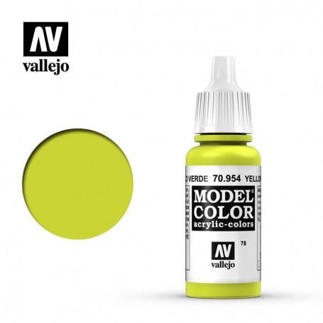 Vallejo 70954 Model Color 954 Yellow Green (078) 17ml