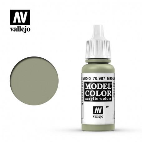 Vallejo 70987 Model Color 987 Medium Grey (111) 17ml