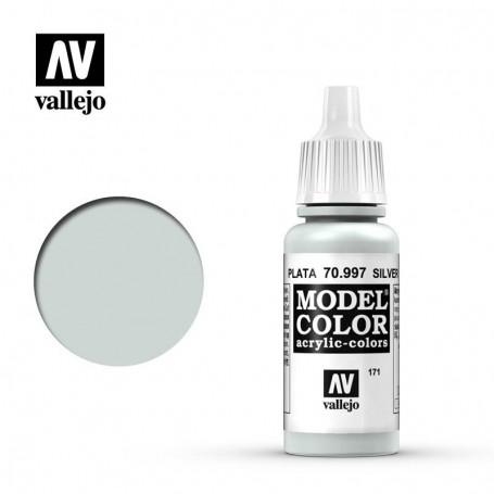 Vallejo 70997 Model Color 997 Silver (171) 17ml