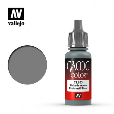 Vallejo 72053 Game Color 053 Chainmail Silver 17ml