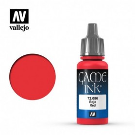 Vallejo 72086 Game Color 086 Red Ink 17ml
