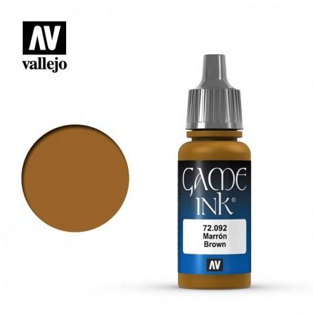 Vallejo 72092 Game Color 092 Brown Ink 17ml