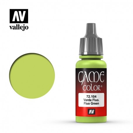 Vallejo 72104 Game Color 104 Fluo Green 17ml