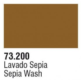 Vallejo 73200 Game Color Wash 200 Sepia 17ml