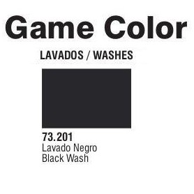 Vallejo 73201 Game Color Wash 201 Black 17ml