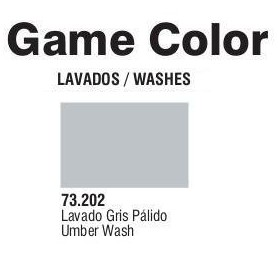 Vallejo 73202 Game Color Wash 202 Pale Grey 17ml