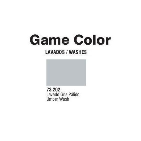 Vallejo 73202 Game Color Wash 202 Pale Grey 17ml