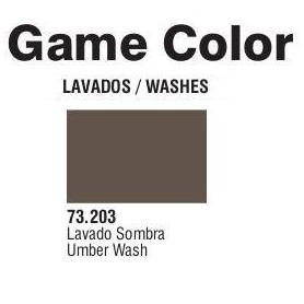 Vallejo 73203 Game Color Wash 203 Umber 17ml
