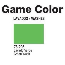 Vallejo 73205 Game Color Wash 205 Green 17ml