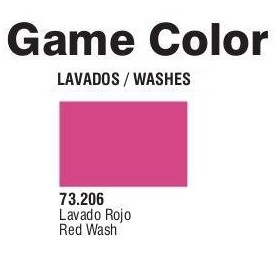 Vallejo 73206 Game Color Wash 206 Red 17ml