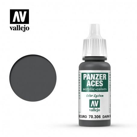 Vallejo 70306 Panzer Aces 306 Dark Rubber 17ml