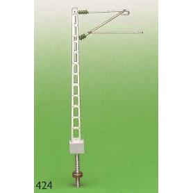 Sommerfeldt 424 Luftledningsmast, höjd 55 mm, fot 4 x 5,5 mm