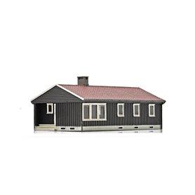 NMJ 15117 Norsk Enebolig, brun/vit, färdigmodell