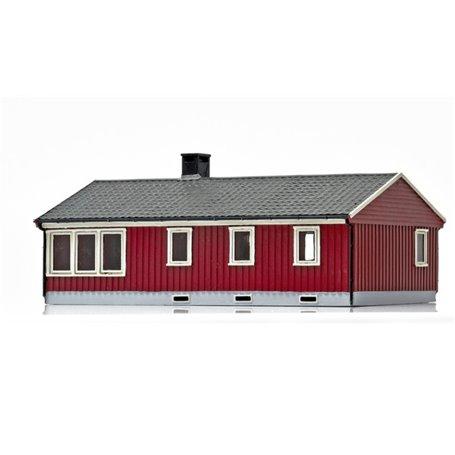 NMJ 15115 Norsk Enebolig röd/vit, färdigmodell
