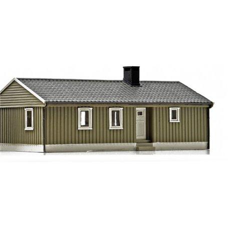 NMJ 15116 Norsk Enebolig, grå/vit, färdigmodell