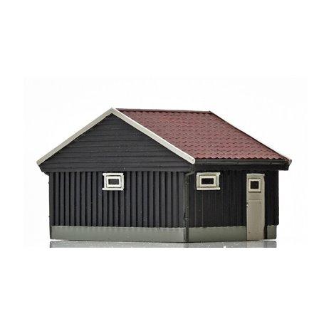 NMJ 15120 Norskt garage, brun/vit, färdigmodell