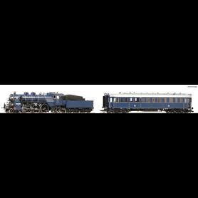 """Roco 61472 Ånglok med tender och personvagn """"Prinzregenten"""" typ K.Bay.Sts.B."""