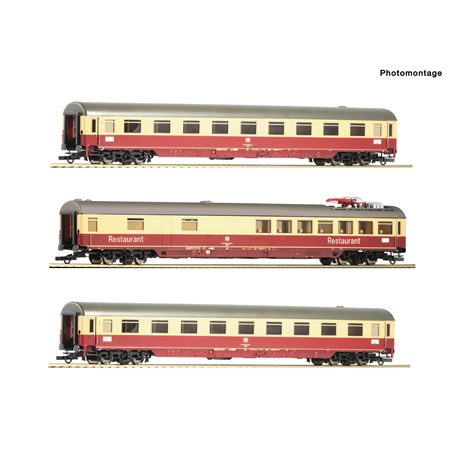 "Roco 74122 Vagnsset med 3 personvagnar typ DB ""Erasmus"" TEE 26/27"