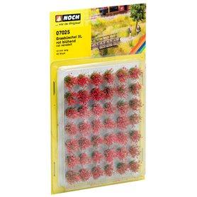 """Noch 07025 Grästuvor XL Blommande röda"""" 42 st, 12 mm långa"""